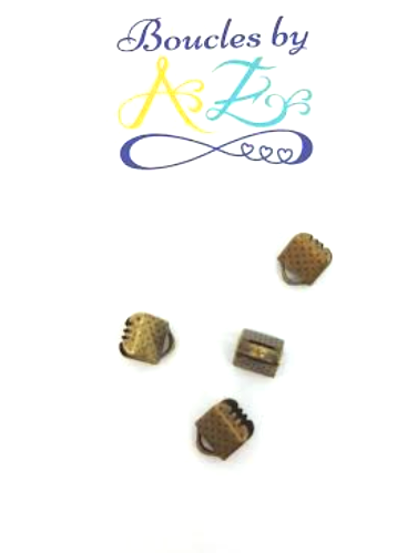 Attache griffe bronze 6x8mm x10.