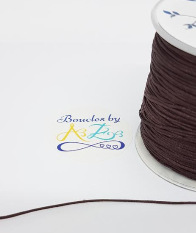 Fil nylon tressé marron 1mm