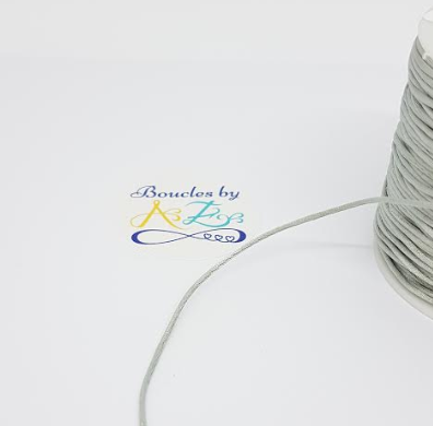 Fil nylon satiné argenté 1mm