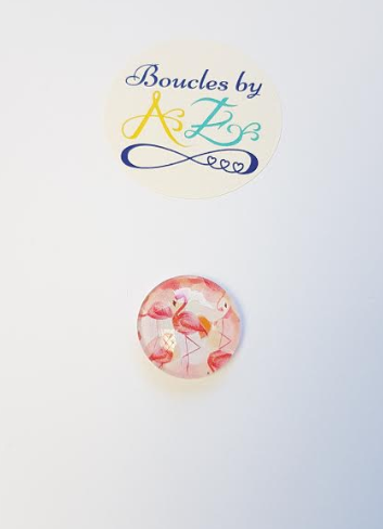 Cabochon flamant rose 20mm ou 25mm